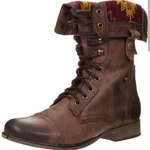 Steve Madden - Chevie - 7.5 Brown Multi Combat